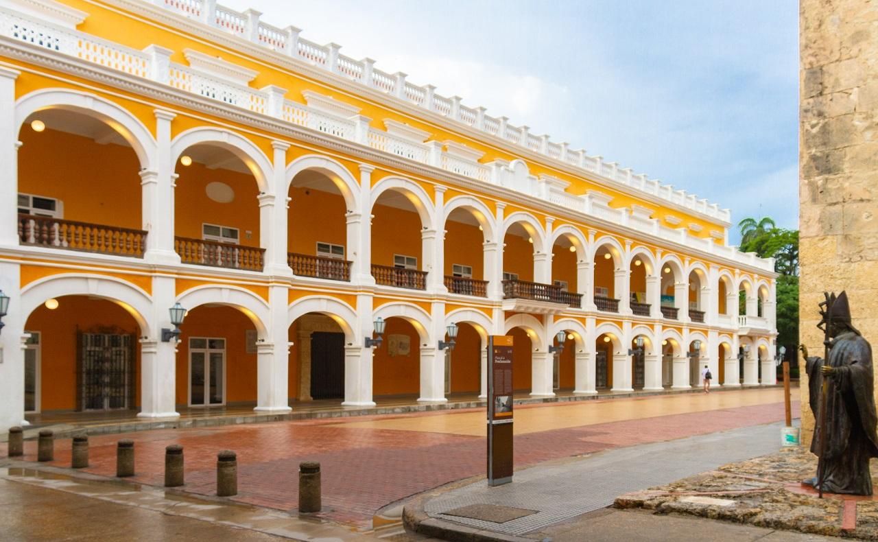 Palacio de la Proclamación en el Centro, imagen para ilustrar nota de Coronavirus en Cartagena