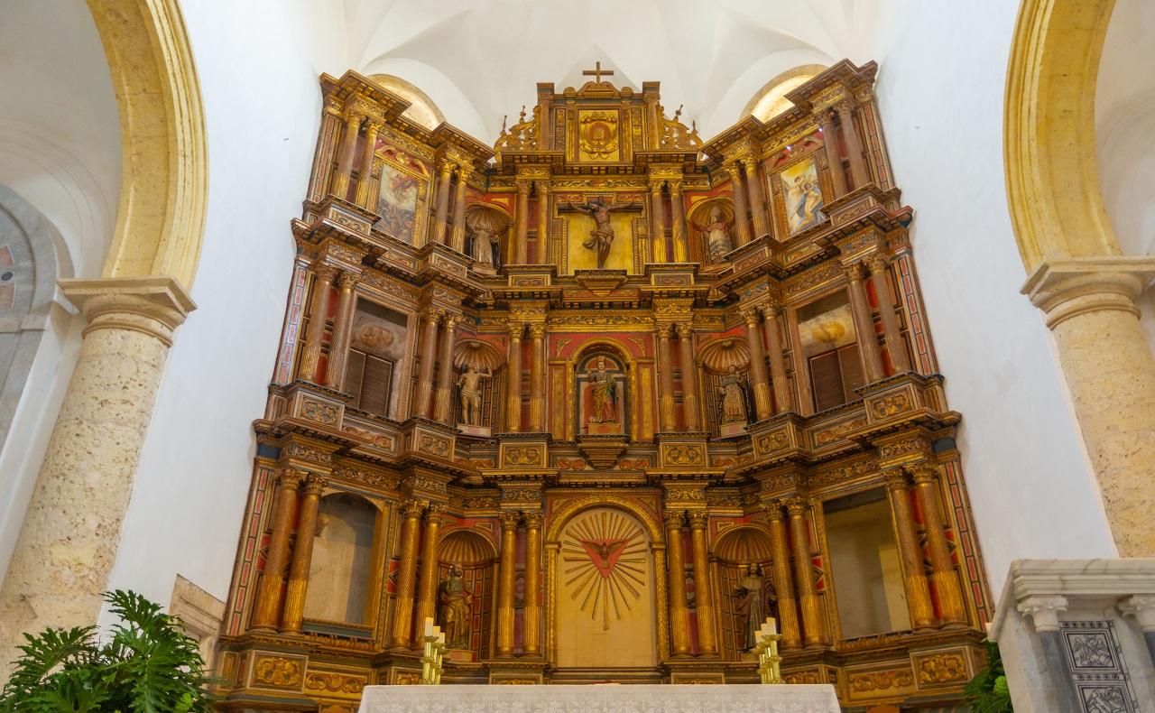 iglesia de Cartagena de Indias para ilustrar nota de cuarentena durante semana santa