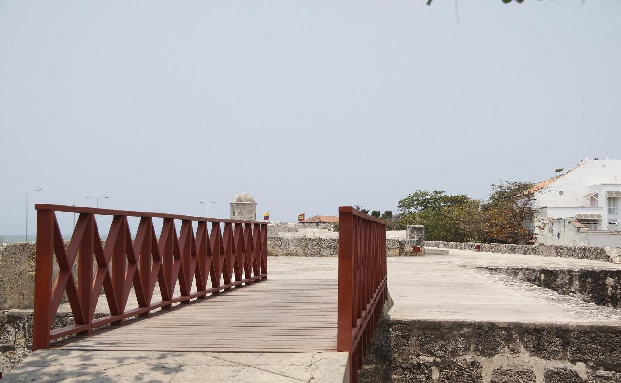 murallas de cartagena de indias durante la cuarentena por covid-19