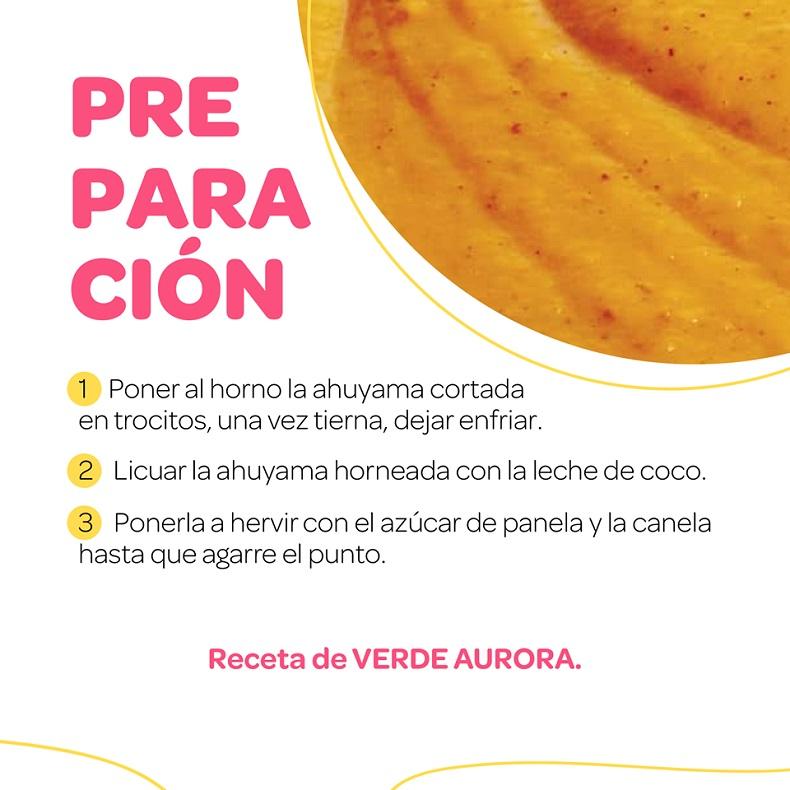 Festival del dulce, Arequipe de ahuyama preparación