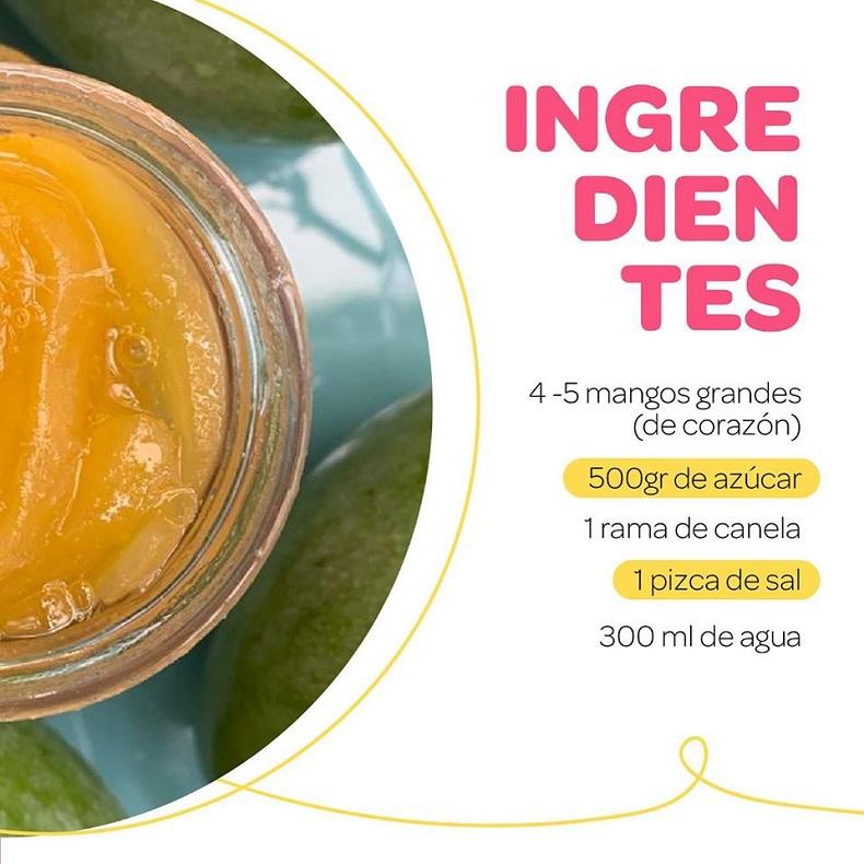 Festival del dulce, Dulce e' mango biche ingredientes