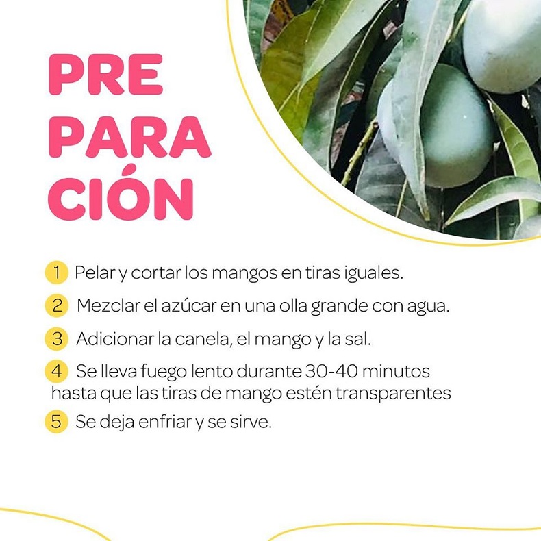 Festival del dulce, Dulce e' mango biche preparación