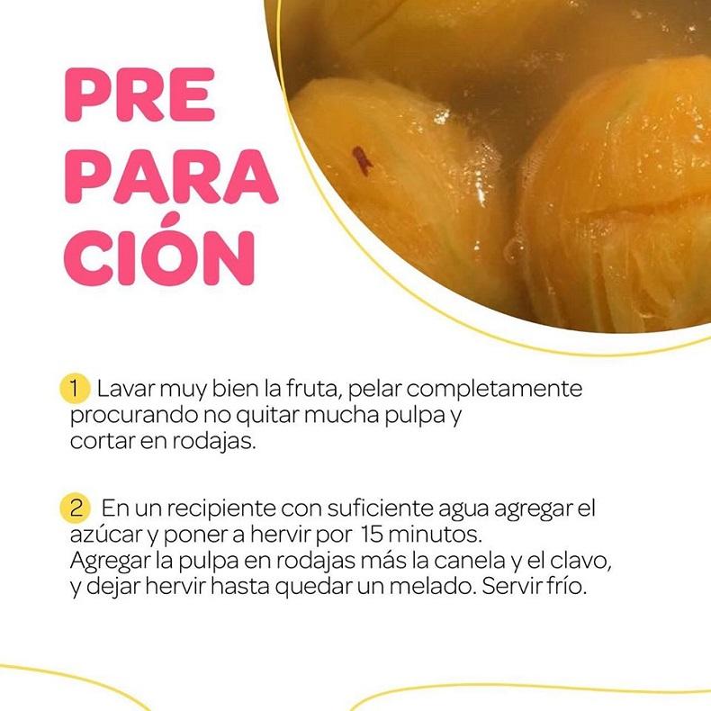 Festival del dulce, Dulce e' mango maduro preparacion