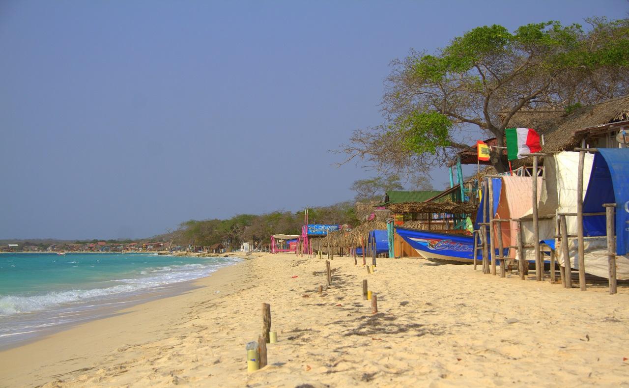 Playa Blanca en Cartagena durante la cuarentena por coronavirus