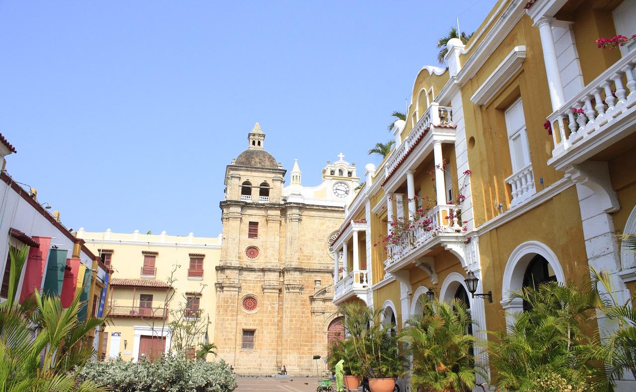 Plaza de San Pedro Claver en Cartagena de Indias