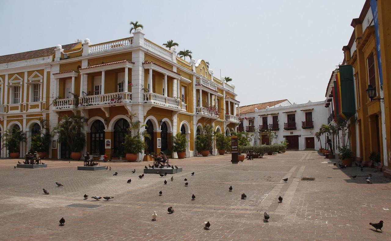 plaza de san pedro claver en cartagena, imagen para ilustrar nota de turismo