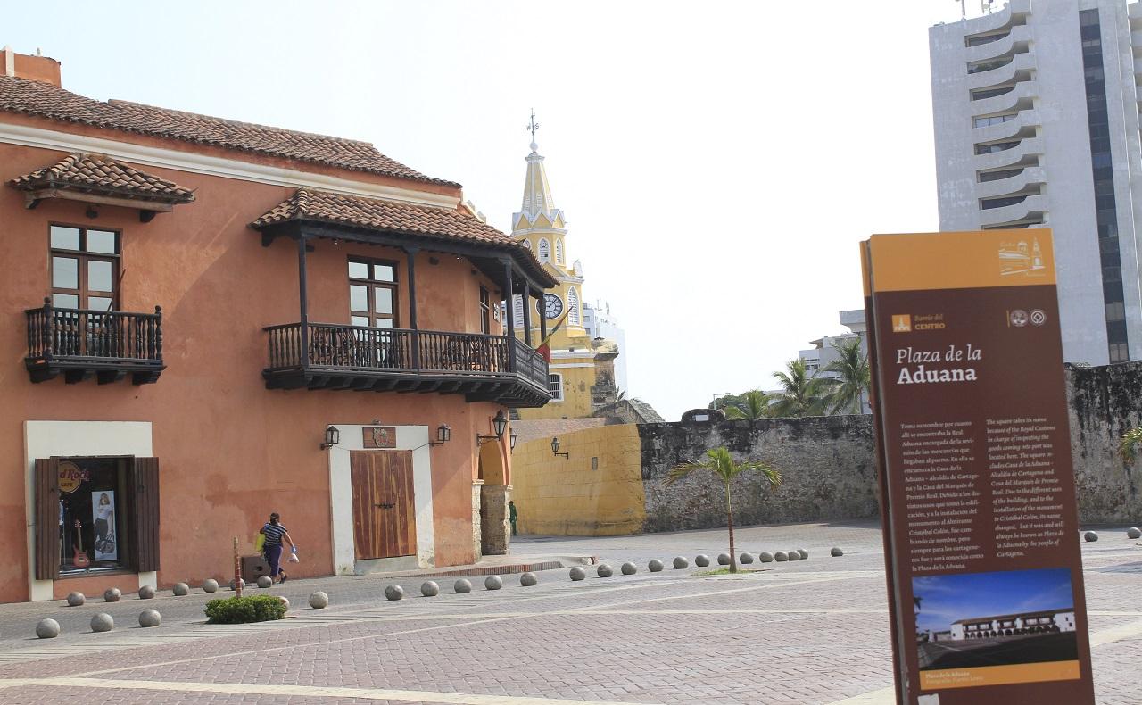 Plaza de la Aduana en Cartagena de Indias