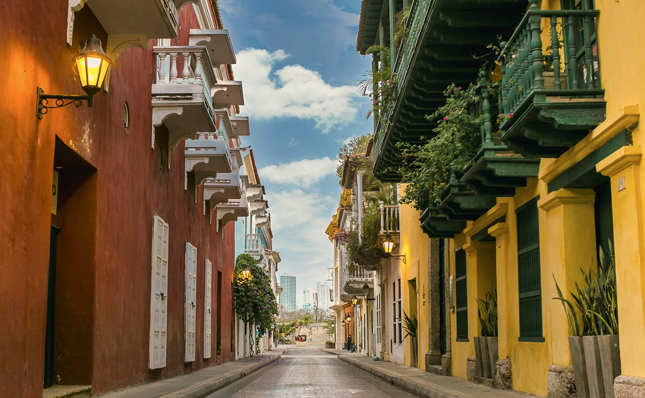 Calle del Centro Histórico de Cartagena mayo 2020