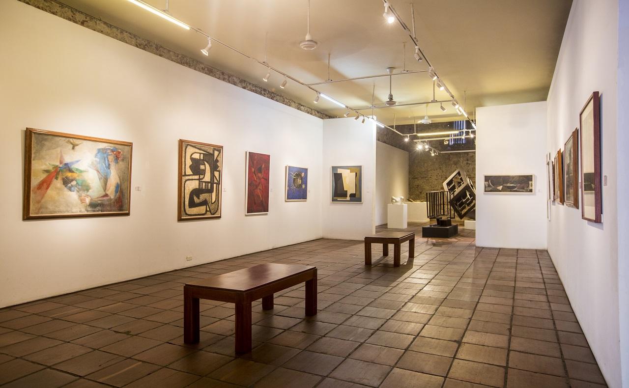 Sala del Museo de Arte Moderno en Cartagena, nota para ilustrar nota de reapertura de museos en Colombia