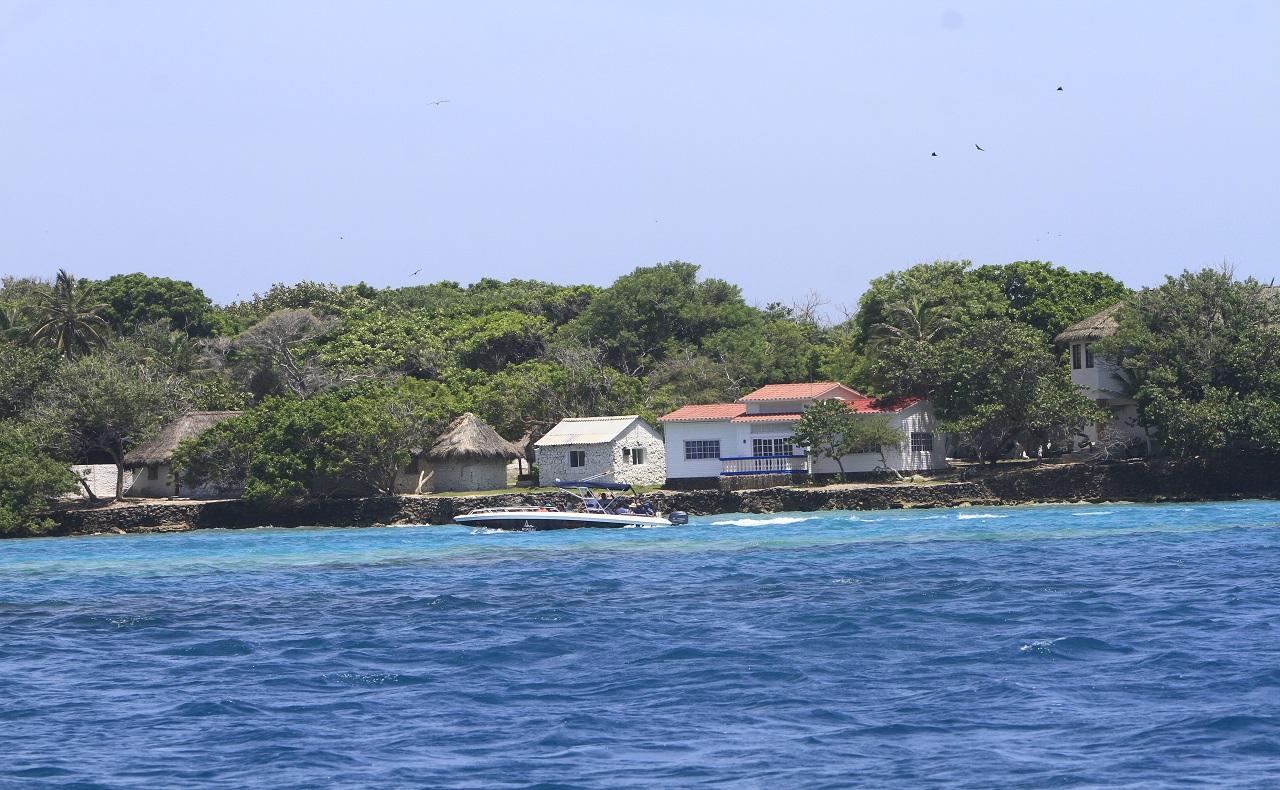postal de las Islas del Rosario en Cartagena