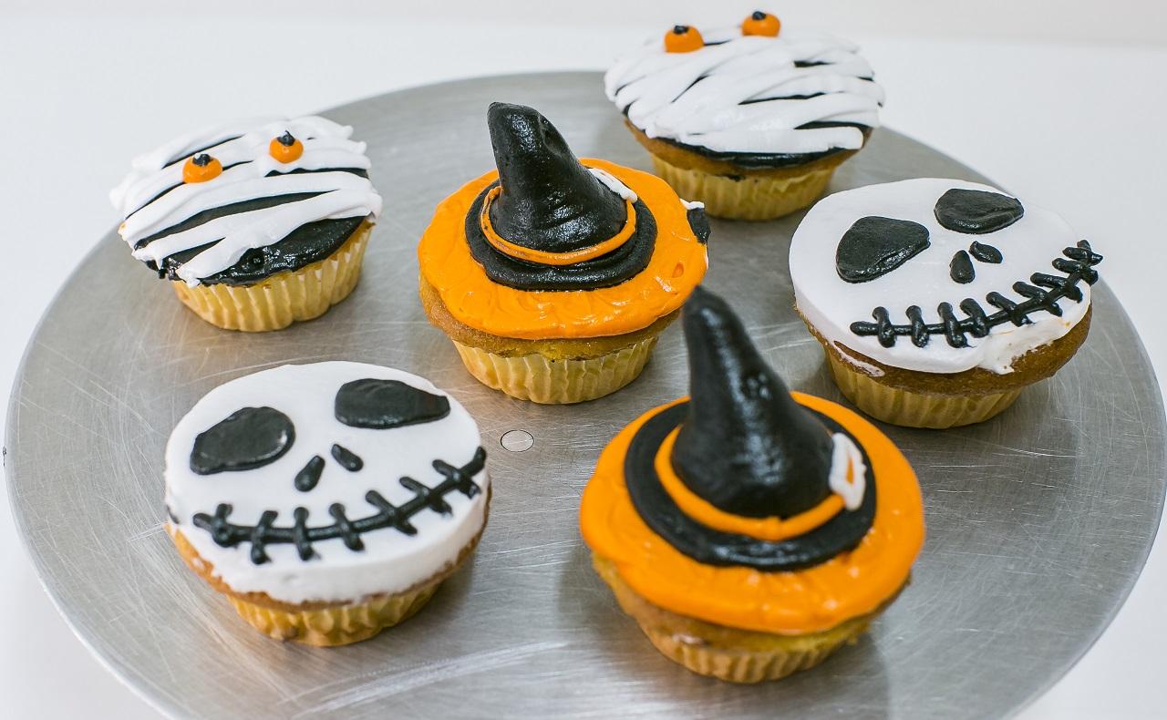 cupcakes con decoración especial de halloween